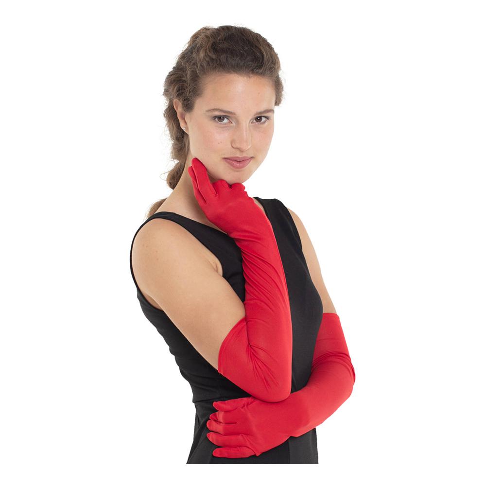 Långa Handskar Röda - One size