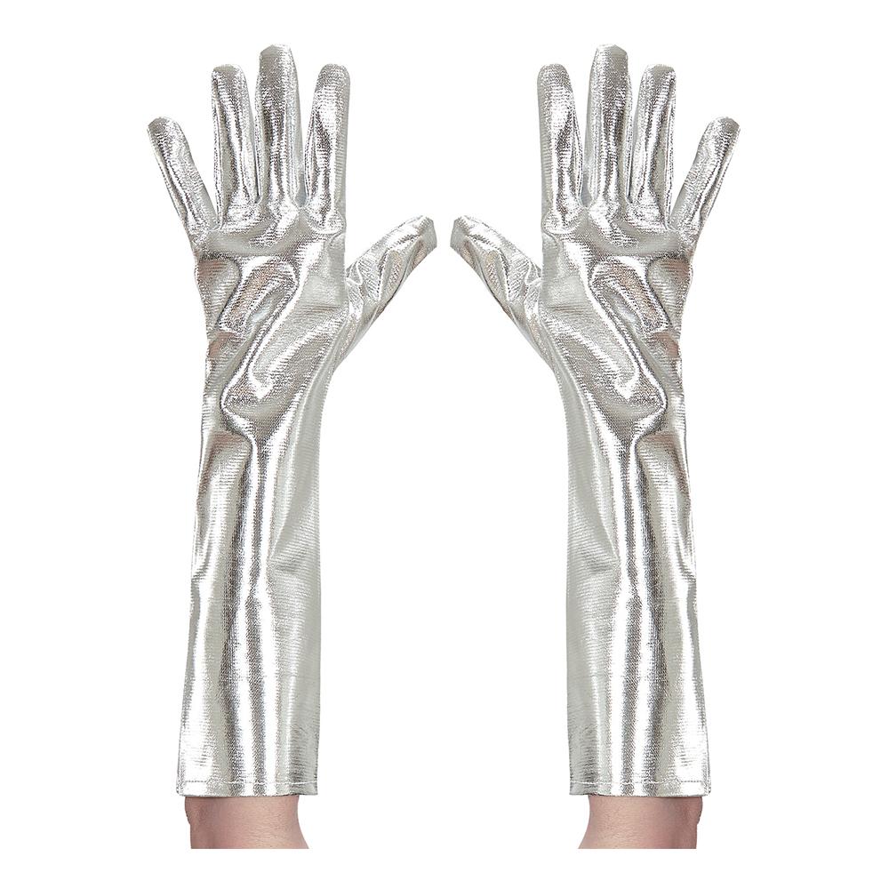 Långa Handskar i Silvermetallic - One size