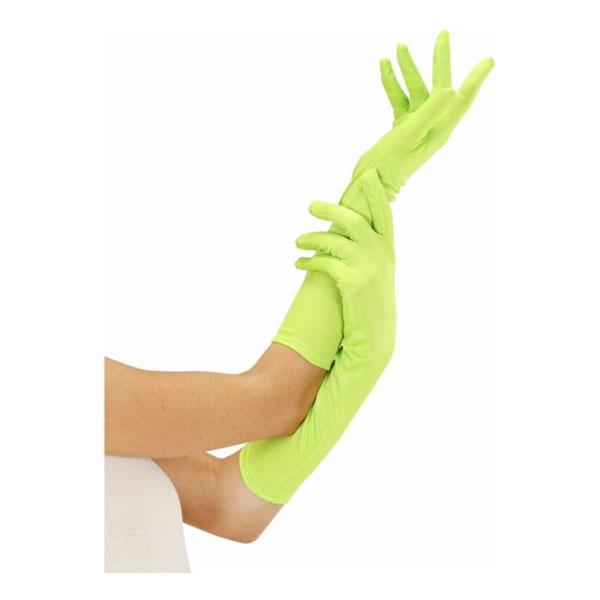 Långa Neongröna Handskar