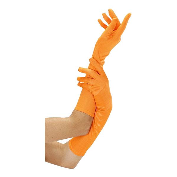 Långa Neonorange Handskar - One size