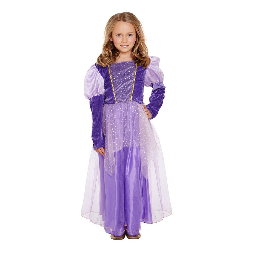Långhårig Prinsessa Barn Budget Maskeraddräkt - Medium
