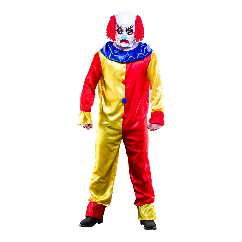 Läskig Clown Budget Maskeraddräkt - One size