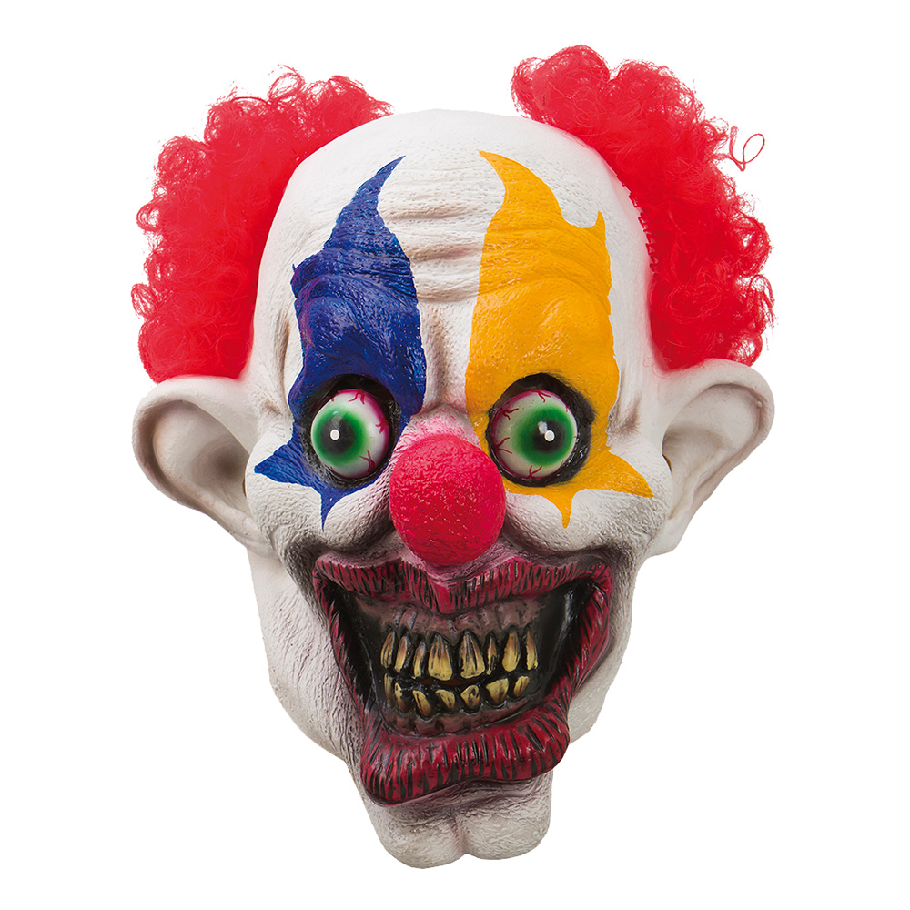 Läskig Clown Mask - One size