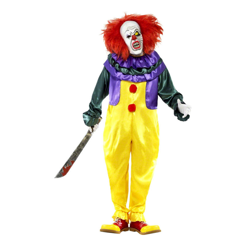 Läskig Clown Maskeraddräkt - Medium