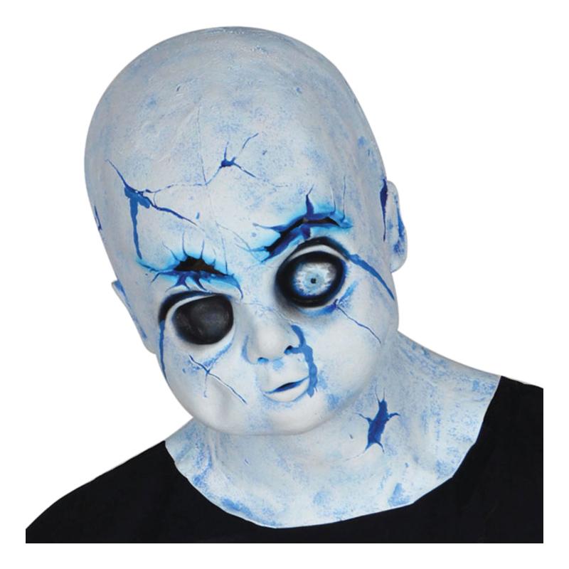 Läskig Porslinsdocka Mask - One size