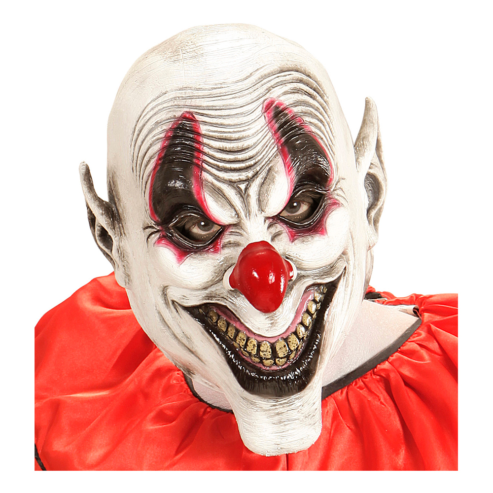 Läskig Smiley Clown Mask - One size