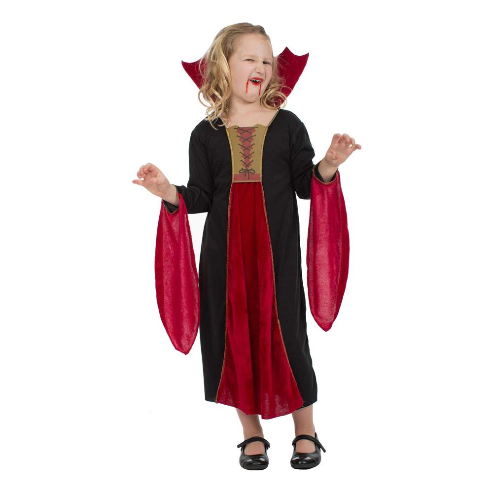 Läskig Vampyra Barn Maskeraddräkt - Medium