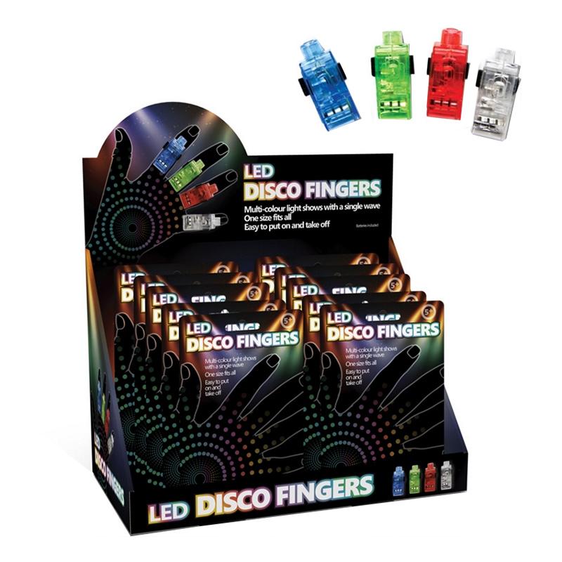 LED Discofingrar - 4-pack