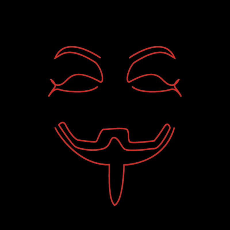 El Wire Anonymous LED Mask - One size