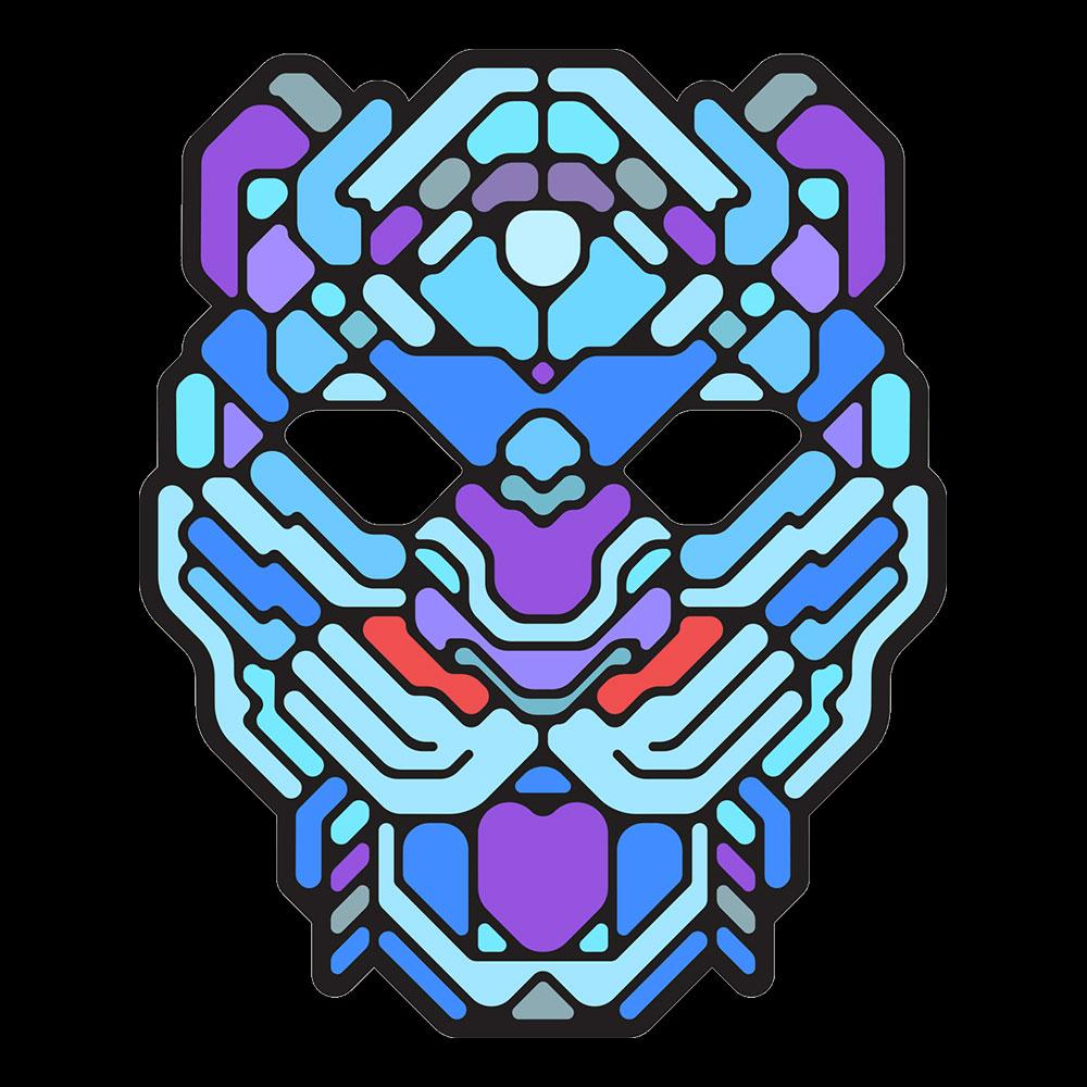 LED Mask Lodjur - One size