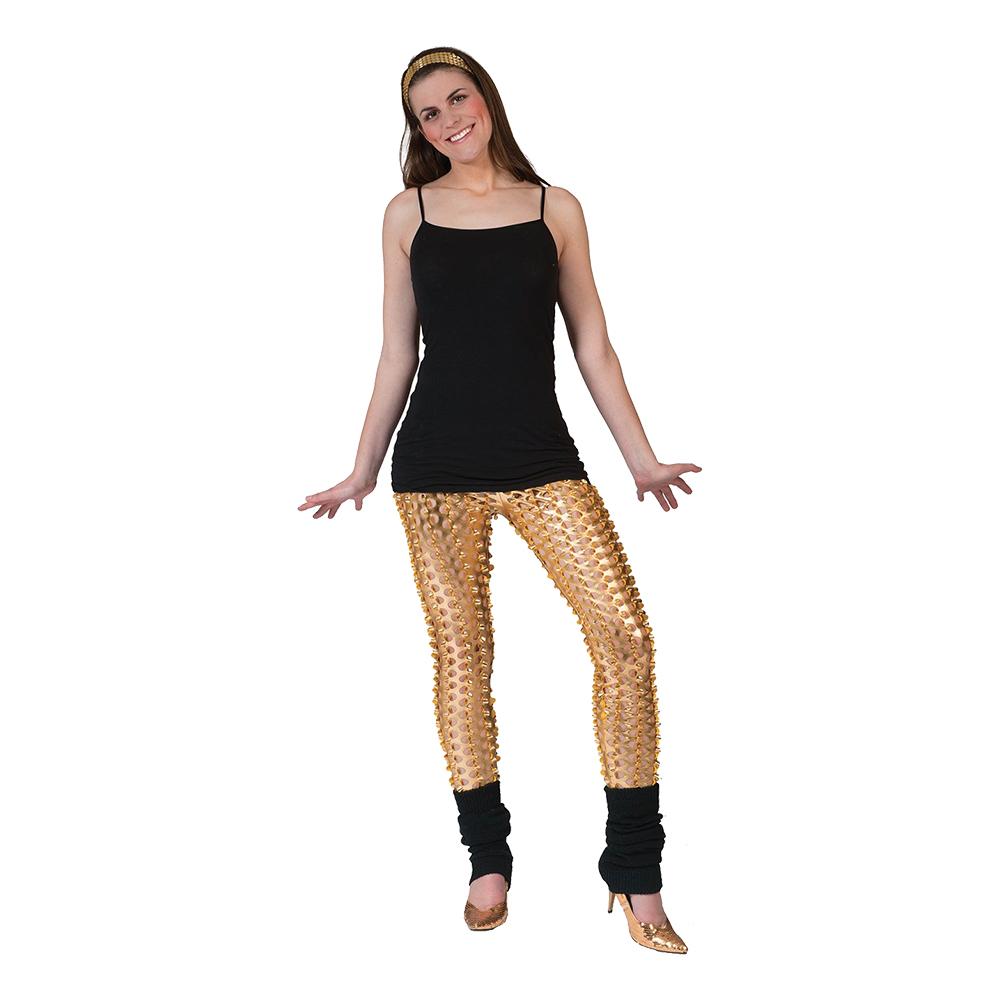 Leggings Guld med Hål - One size