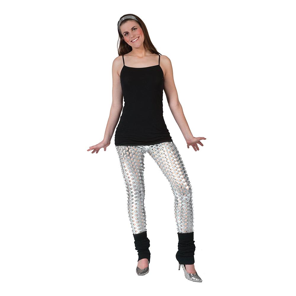 Leggings Silver med Hål - One size