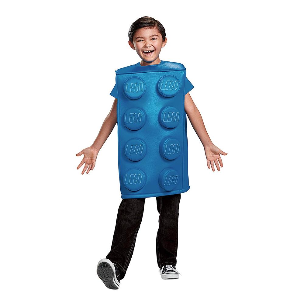 LEGO Kloss Blå Barn Maskeraddräkt - Small