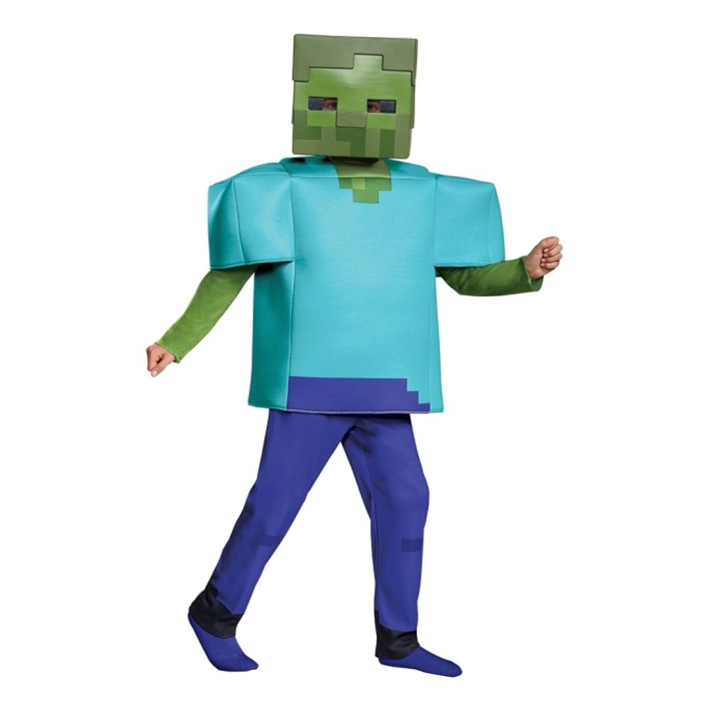 Minecraft Zombie Deluxe Maskeraddräkt - Small