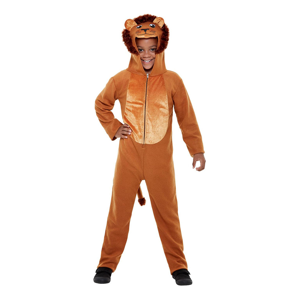 Lejon Jumpsuit Barn Maskeraddräkt - Small
