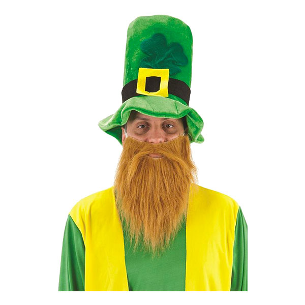 Leprechaun Hatt med Skägg - One size