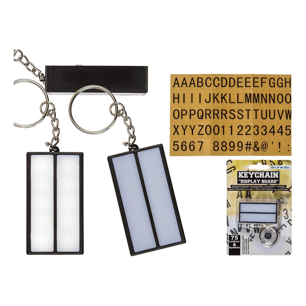 Lightbox Lampa Nyckelring med Bokstäver