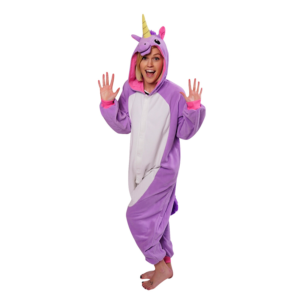 Lila Enhörning Kigurumi - Medium