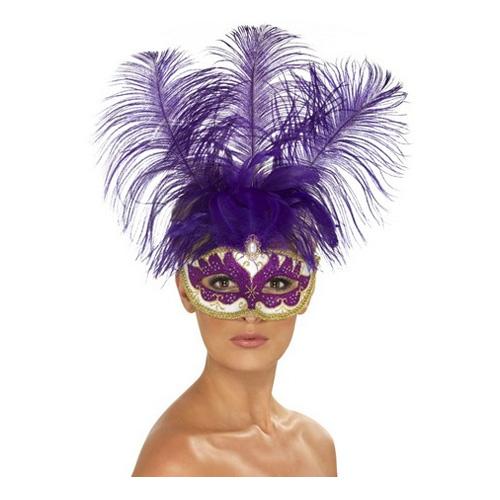 Lila Venetiansk Mask - One size