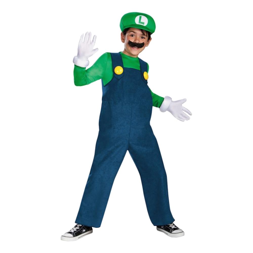 Luigi Deluxe Barn Maskeraddräkt - Small
