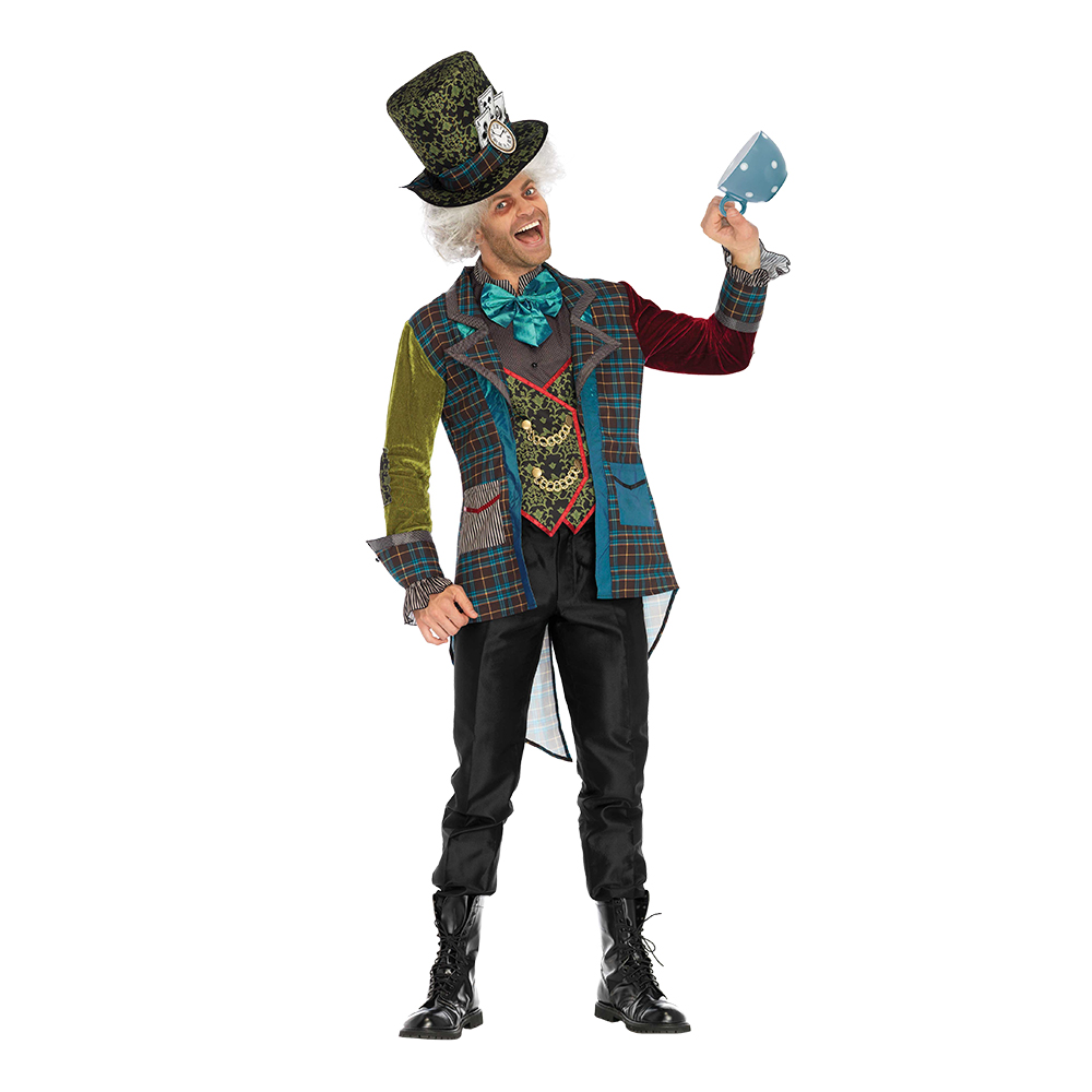Mad Hatter Deluxe Maskeraddräkt - Medium