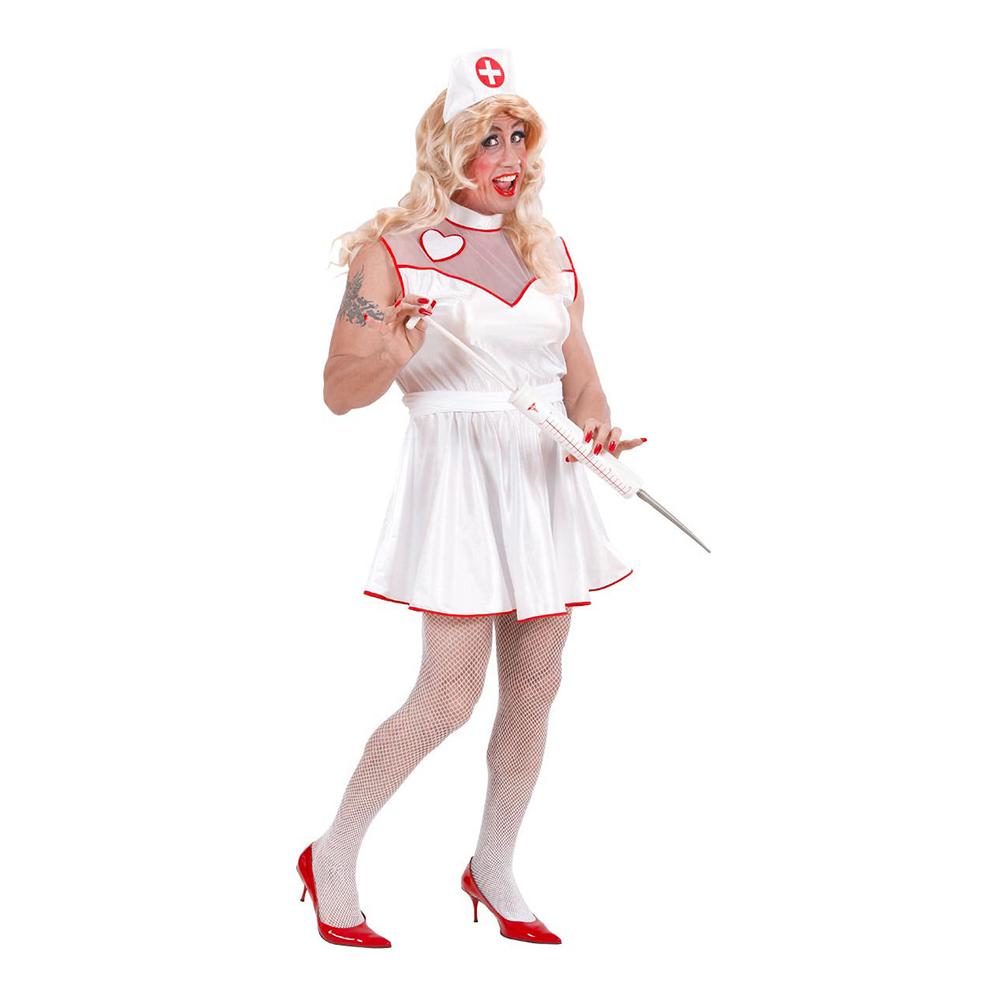 Manlig Sjuksköterska Maskeraddräkt - X-Large