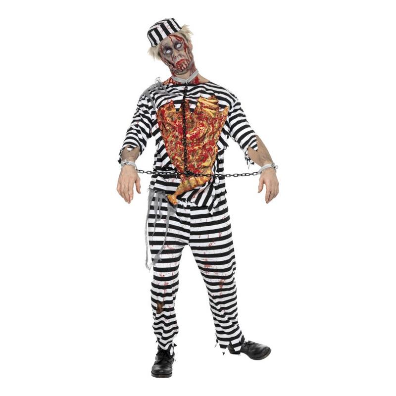 Manlig Zombie Fånge Maskeraddräkt - Large