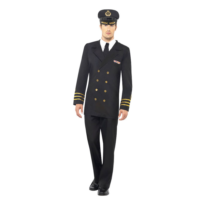 Marinofficer Maskeraddräkt - Medium