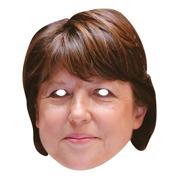 Martine Aubry Pappmask