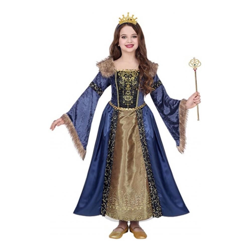 Medeltida Drottning Barn Maskeraddräkt - Small