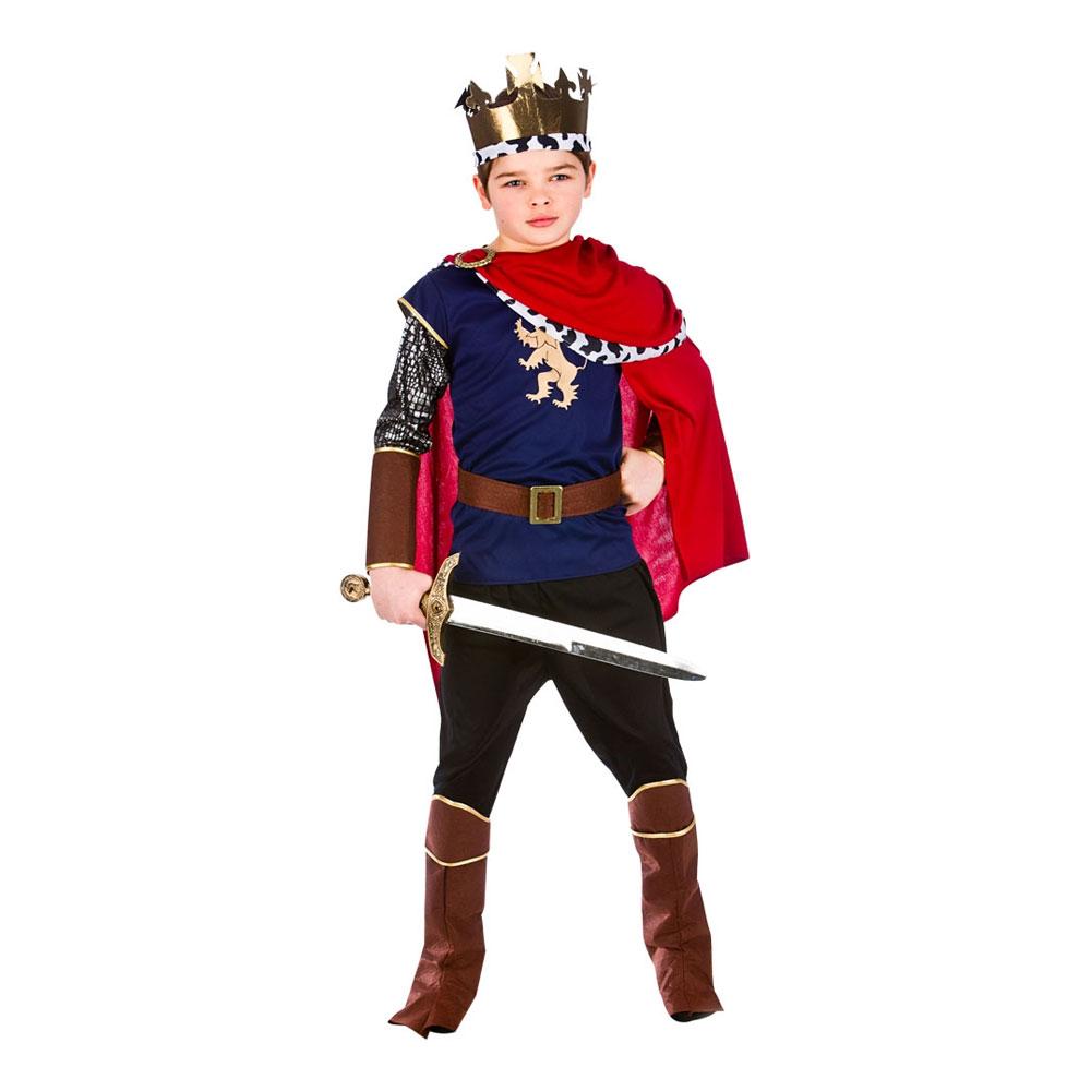 Medeltida Kung Barn Budget Maskeraddräkt - Large