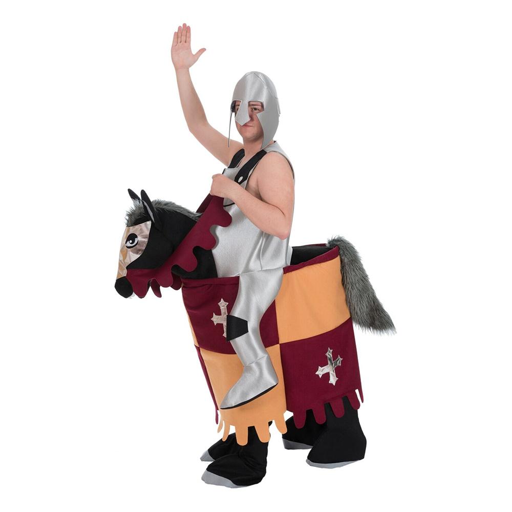 Medeltida Riddare på Häst Maskeraddräkt - One size