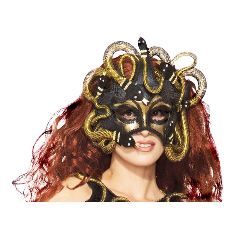 Medusa Mask med Ormar - One size