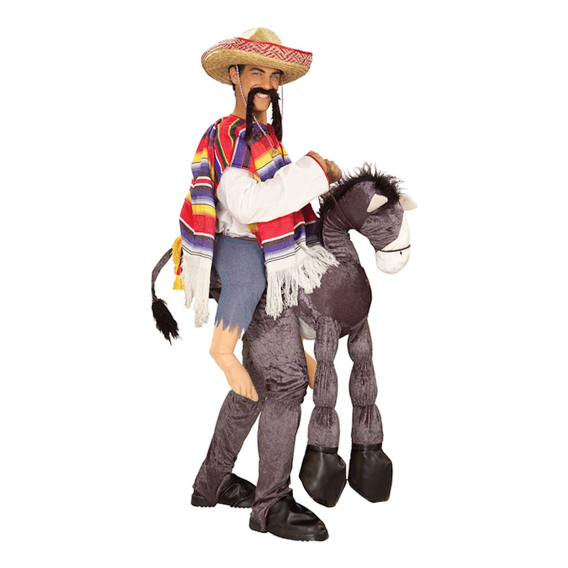Mexikan med Åsna Maskeraddräkt - One size