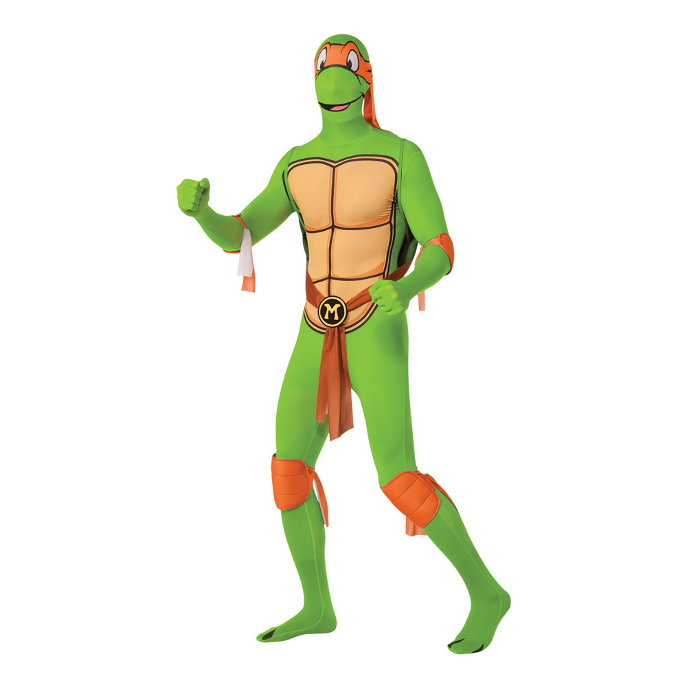 Michelangelo Second Skin Maskeraddräkt - Medium