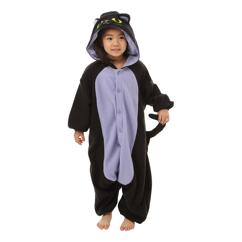 Midnattskatt Barn Kigurumi - Medium