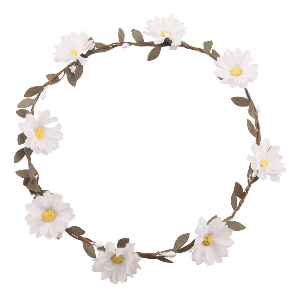 Midsommarkrans med Vita Blommor