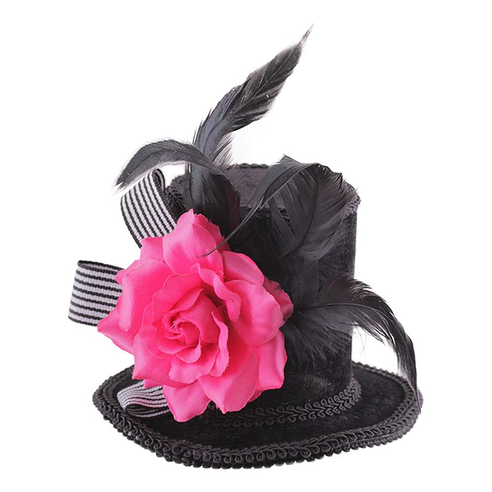 Minihatt med Ros - One size