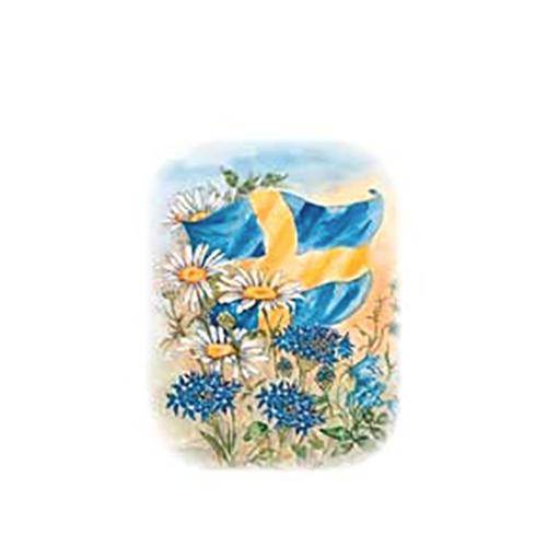 Minikort Svensk Flagga