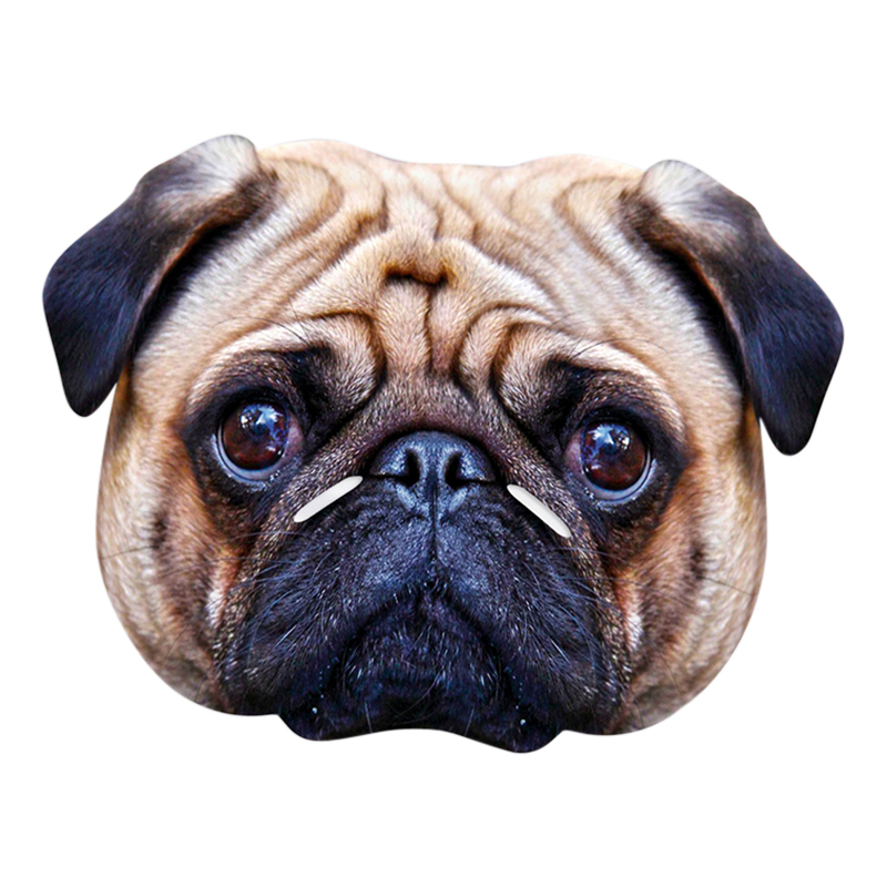Pappmasker - Mops Pappmask