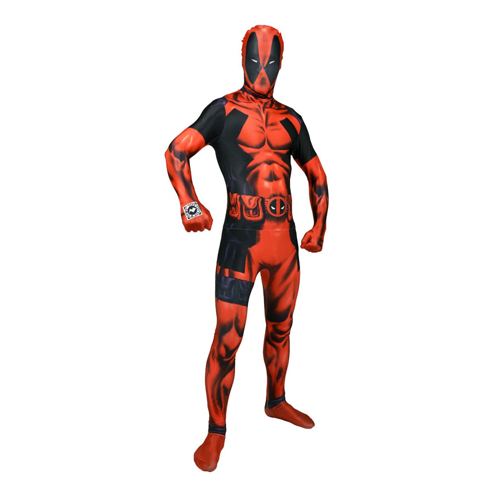 Morphsuit Deadpool Maskeraddräkt - Medium