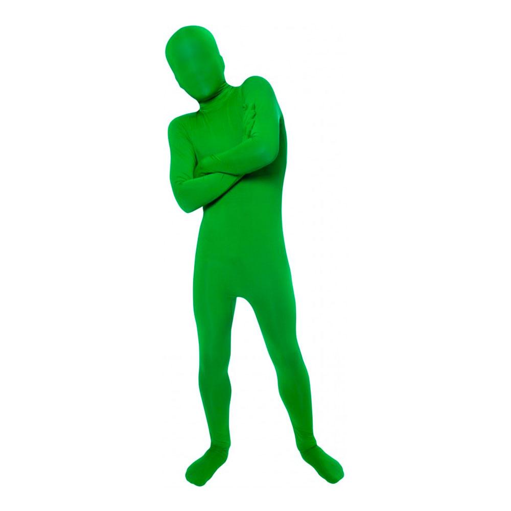 Morphsuit Grön Barn Maskeraddräkt - Large