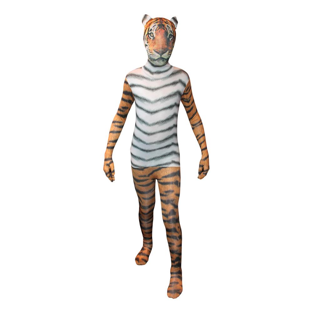Morphsuit Tiger Maskeraddräkt - X-Large