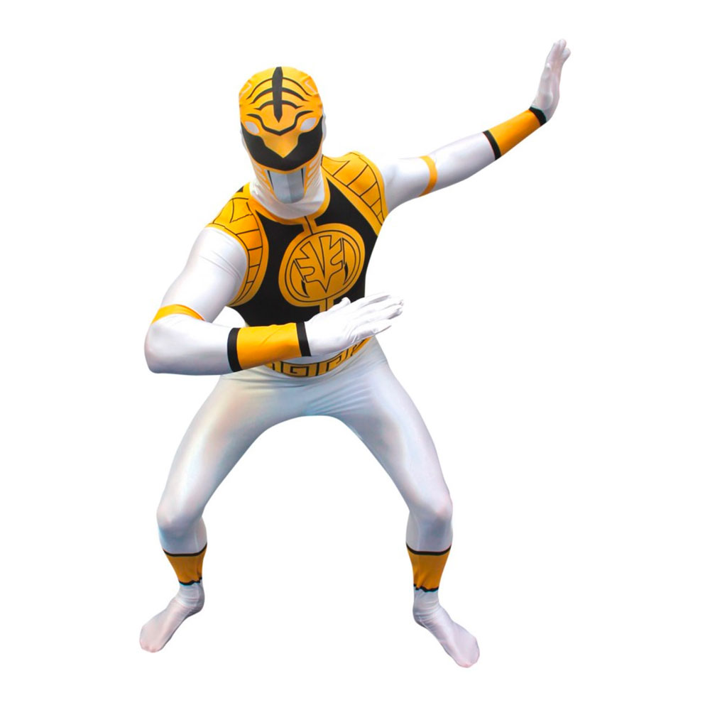 Morphsuit White Power Ranger Maskeraddräkt - Medium 4b95add789df7