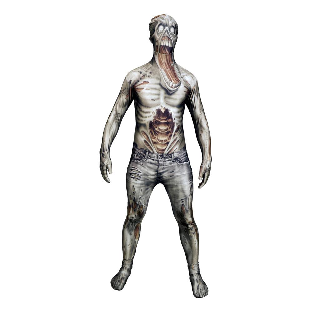 Morphsuit Zombie Maskeraddräkt - Large
