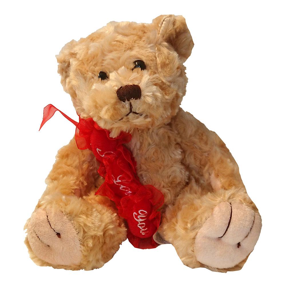 Nallebjörn med Hjärtan I Love You
