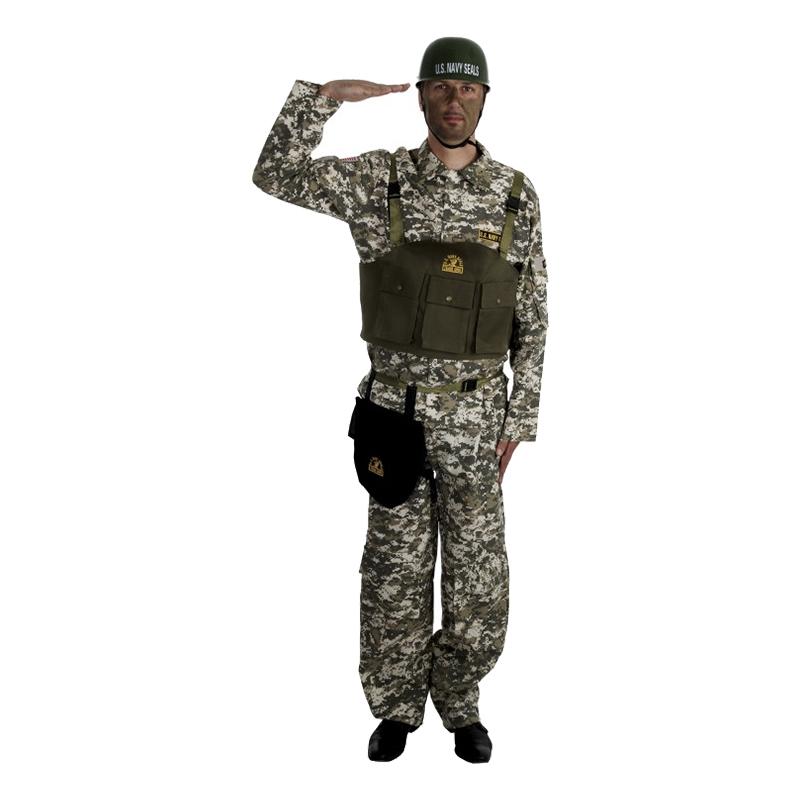 Navy Seal Maskeraddräkt - Medium