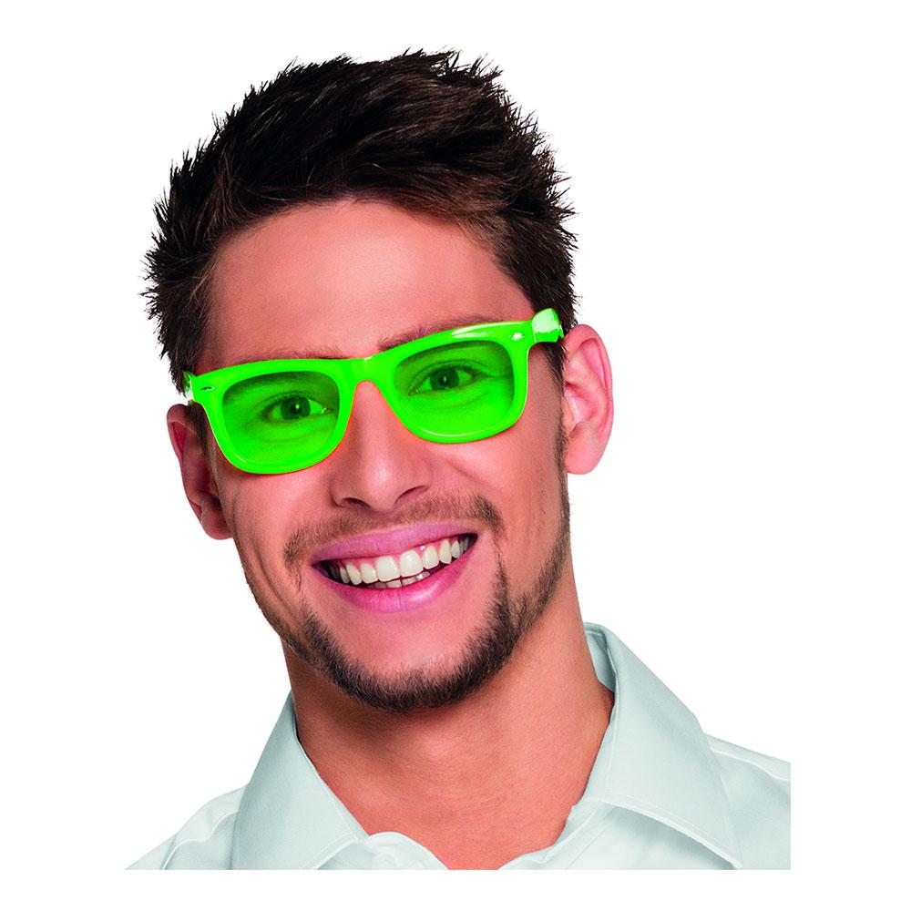 Neonfärgade Glasögon - Grön