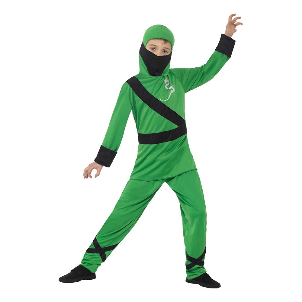 Grön Ninja Barn Maskeraddräkt - Large