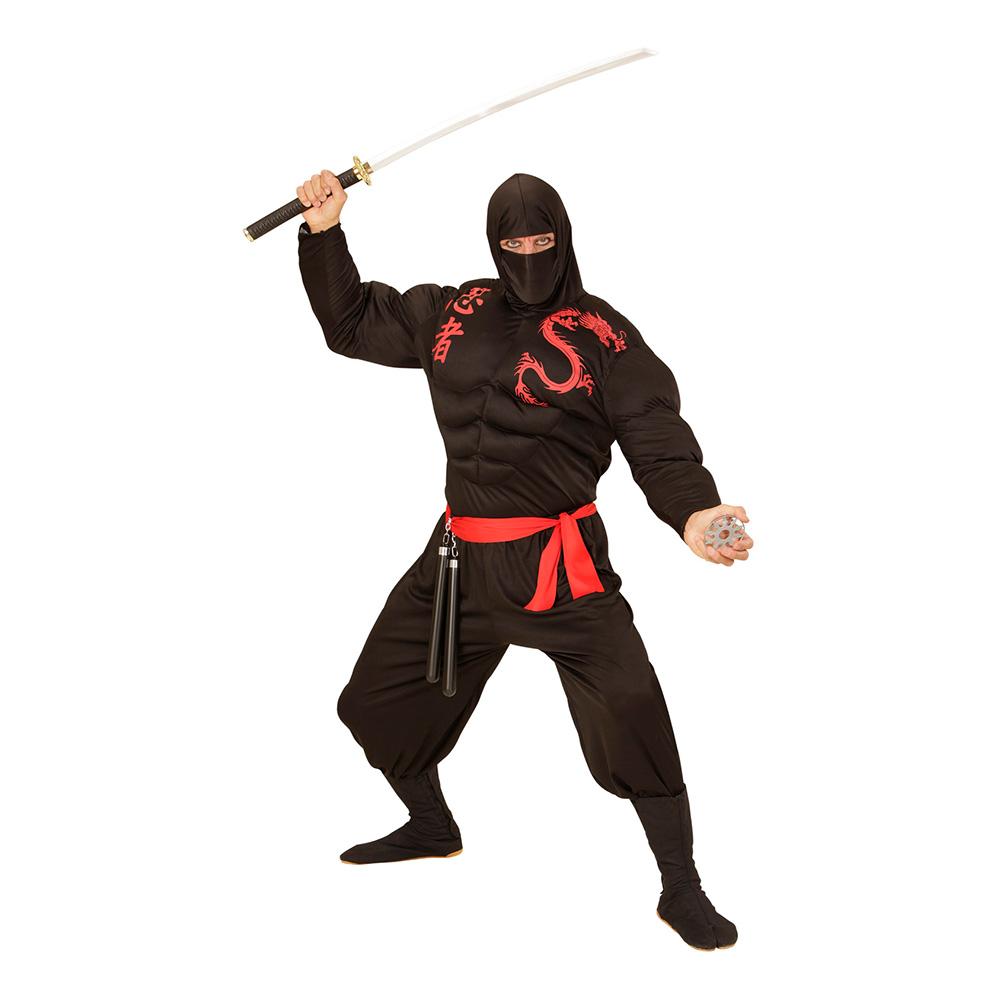 Ninja med Muskler Maskeraddräkt - Small